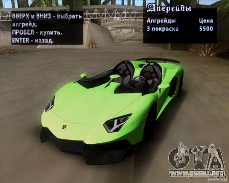 Lamborghini Aventador J TT Black Revel para la vista superior GTA San Andreas