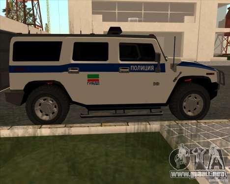 Hummer H2 DPS para GTA San Andreas left