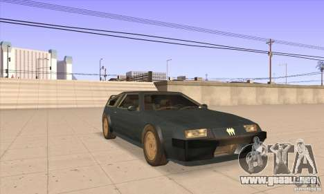 Deluxo HD para GTA San Andreas vista hacia atrás