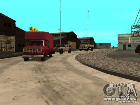 Renovación de la base militar en el puerto para GTA San Andreas segunda pantalla