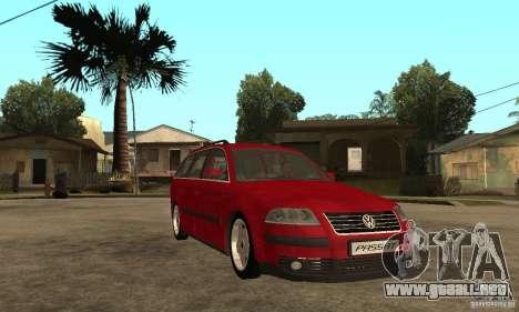 VW Passat B5+ Variant para GTA San Andreas vista hacia atrás