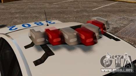 Policía Pinnacle ESPA para GTA 4 vista hacia atrás