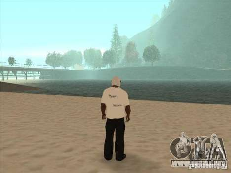 Una camiseta con una foto de Michael Jackson para GTA San Andreas segunda pantalla