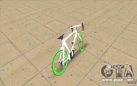 Fixie Bike para GTA San Andreas vista posterior izquierda