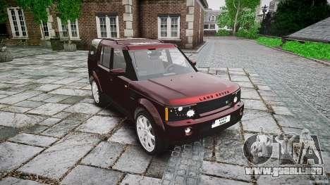 Land Rover Discovery 4 2011 para GTA 4 vista hacia atrás