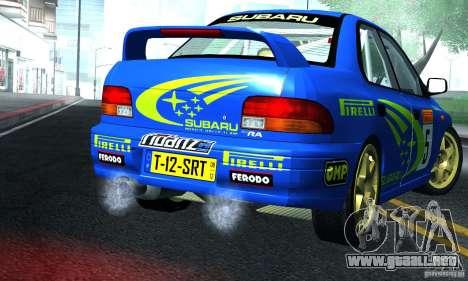 Subaru Impreza 1995 World Rally ChampionShip para la visión correcta GTA San Andreas
