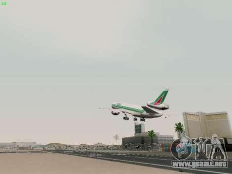 McDonell Douglas DC-10-30 Alitalia para vista lateral GTA San Andreas