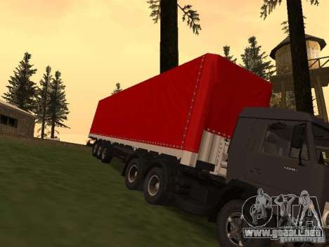 NEFAZ 93344 rojo para GTA San Andreas vista hacia atrás