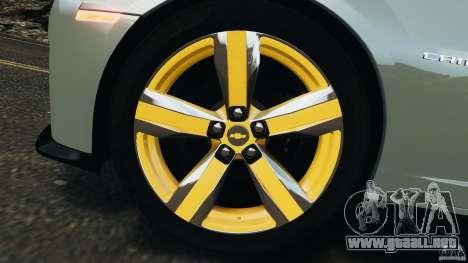 Chevrolet Camaro ZL1 2012 v1.2 para GTA 4 vista desde abajo