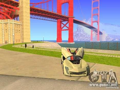 Bertone Mantide para vista inferior GTA San Andreas