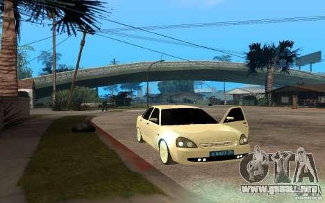 Lada Priora Light Tuning para GTA San Andreas vista posterior izquierda