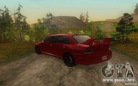Mitsubishi Lancer Evolution IX 2006 MR v2 para GTA San Andreas