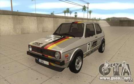 Volkswagen Golf Mk1 - Stock para el motor de GTA San Andreas