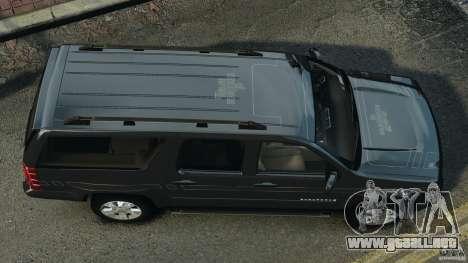 Chevrolet Suburban GMT900 2008 v1.0 para GTA 4 visión correcta