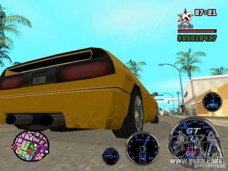 Speedometer GT para GTA San Andreas sucesivamente de pantalla