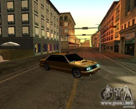 Azik Taxi para GTA San Andreas vista posterior izquierda