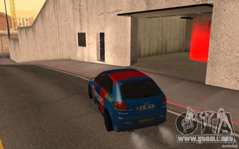 Audi S3 Tunable para GTA San Andreas vista posterior izquierda