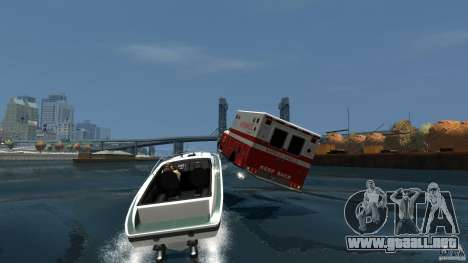 Ambulance boat para GTA 4 vista interior