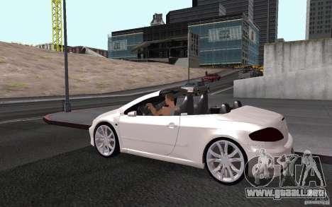 Peugeot 307CC BMS para vista inferior GTA San Andreas