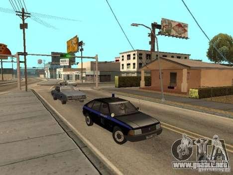Patrulla AZLK 21418 para GTA San Andreas vista hacia atrás