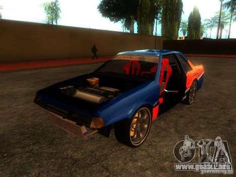 Previon FNF3 para GTA San Andreas vista hacia atrás