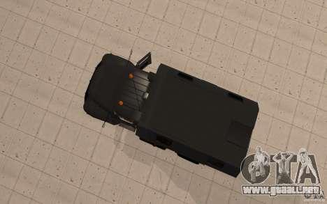 ZIL 130 Radio Butka para GTA San Andreas vista hacia atrás