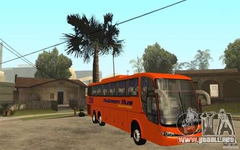 Marcopolo Paradiso 1200 Pullman Bus para GTA San Andreas vista hacia atrás