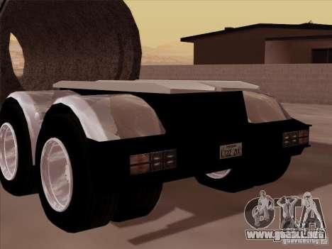 Trailer, Peterbilt 378 Custom para GTA San Andreas vista posterior izquierda