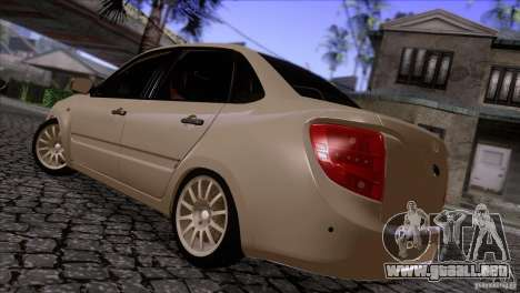 VAZ 2190 Granta para GTA San Andreas vista posterior izquierda