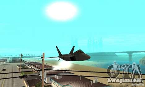 F-22 Grey para vista lateral GTA San Andreas