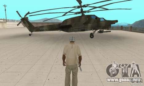 Mi-28 para GTA San Andreas vista posterior izquierda