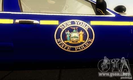 Ford Crown Victoria New York Police para GTA San Andreas vista hacia atrás