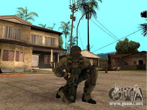El ingeniero del ejército de piel para GTA San Andreas sucesivamente de pantalla
