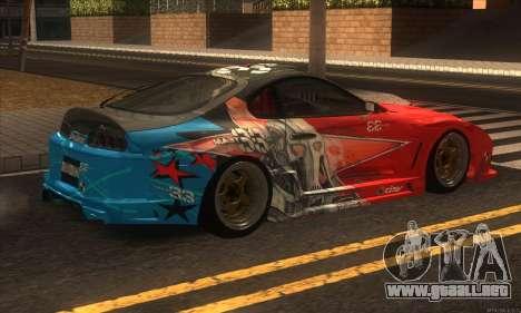 Toyota Supra Evil Empire para GTA San Andreas vista hacia atrás