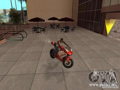 Ducati 1198R para la visión correcta GTA San Andreas