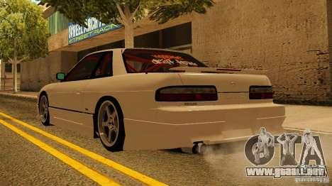 Nissan Silvia S13 MyGame Drift Team para GTA San Andreas vista posterior izquierda
