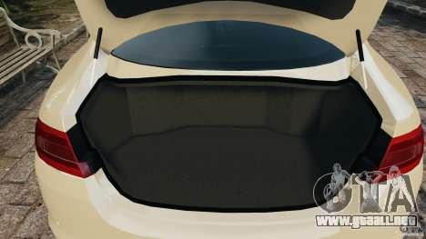 Jaguar XFR 2010 v2.0 para GTA 4 vista desde abajo