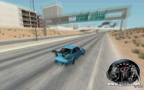 Speedometer v2 para GTA San Andreas segunda pantalla