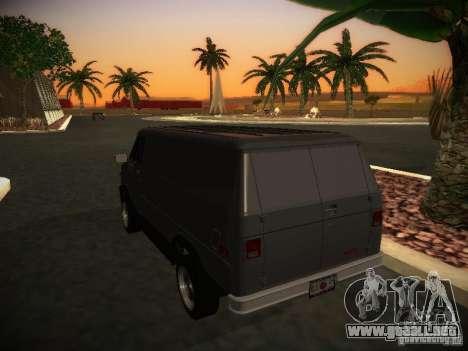 GMC Vandura para la visión correcta GTA San Andreas