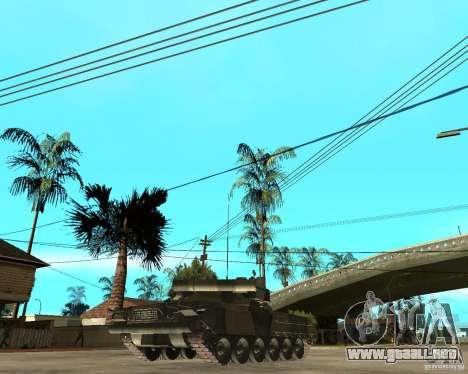 T-80U para GTA San Andreas vista posterior izquierda
