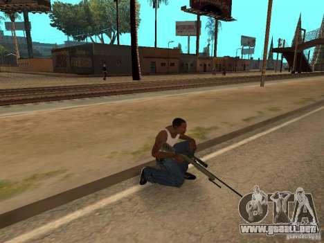 M40A3 para GTA San Andreas sucesivamente de pantalla