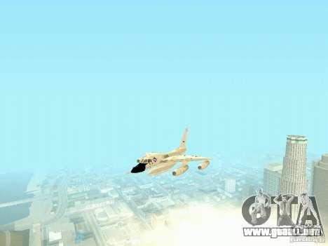B-58 Hustler para GTA San Andreas vista hacia atrás