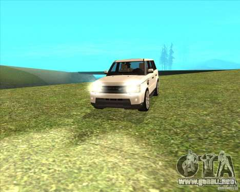 Range Rover Sport 2012 para GTA San Andreas vista posterior izquierda