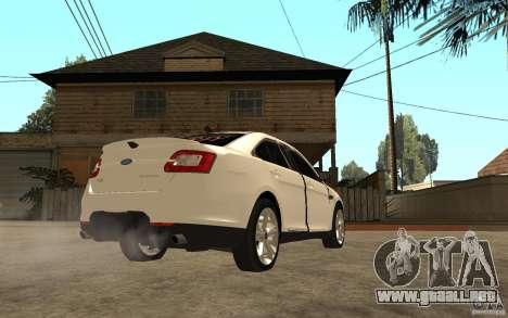 Ford Taurus 2010 para la visión correcta GTA San Andreas