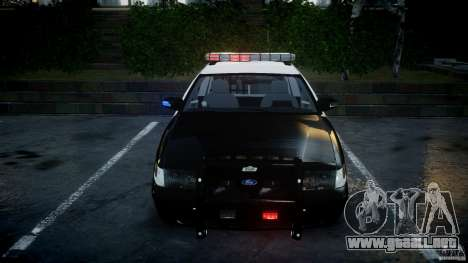 Ford Crown Victoria SFPD K9 Unit [ELS] para GTA 4 vista superior