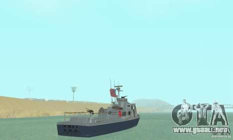 Coast Guard Patrol Boat para GTA San Andreas left