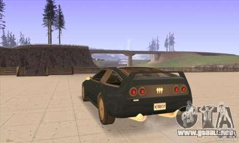 Deluxo HD para GTA San Andreas vista posterior izquierda