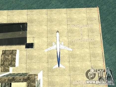 Embraer E-190 para visión interna GTA San Andreas