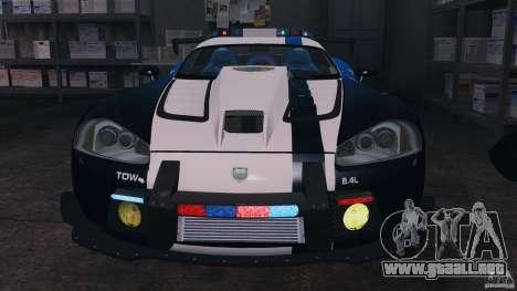 Dodge Viper SRT-10 ACR ELITE POLICE [ELS] para GTA 4 vista interior