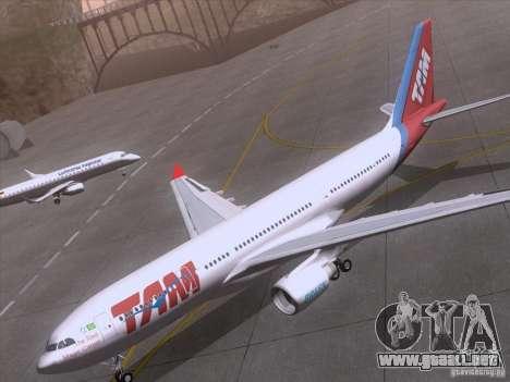 Airbus A330-223 TAM Airlines para vista lateral GTA San Andreas